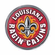 Louisiana Lafayette Ragin' Cajuns Color Car Emblem