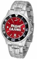 Louisiana Lafayette Ragin' Cajuns Competitor Steel AnoChrome Color Bezel Men's Watch