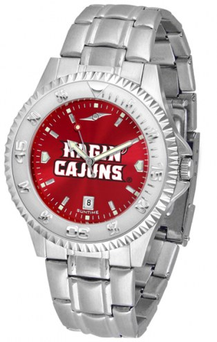 Louisiana Lafayette Ragin' Cajuns Competitor Steel AnoChrome Men's Watch