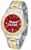 Louisiana Lafayette Ragin' Cajuns Competitor Two-Tone AnoChrome Men's Watch