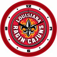 Louisiana Lafayette Ragin' Cajuns Dimension Wall Clock