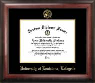 Louisiana Lafayette Ragin' Cajuns Gold Embossed Diploma Frame