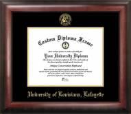Louisiana Lafayette Ragin' Cajuns Gold Embossed Diploma Frame