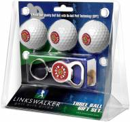 Louisiana Lafayette Ragin' Cajuns Golf Ball Gift Pack with Key Chain