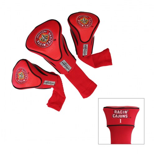 Louisiana Lafayette Ragin' Cajuns Golf Headcovers - 3 Pack