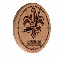 Louisiana Lafayette Ragin' Cajuns Laser Engraved Wood Clock