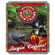 Louisiana Lafayette Ragin' Cajuns Home Field Advantage Throw Blanket