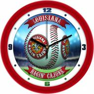 Louisiana Lafayette Ragin' Cajuns Home Run Wall Clock