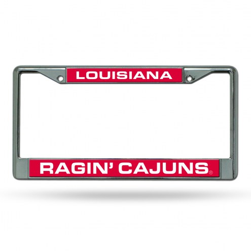 Louisiana Lafayette Ragin' Cajuns Laser Chrome License Plate Frame
