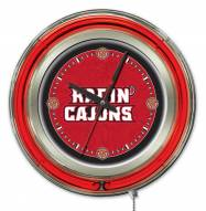 Louisiana Lafayette Ragin' Cajuns Neon Clock