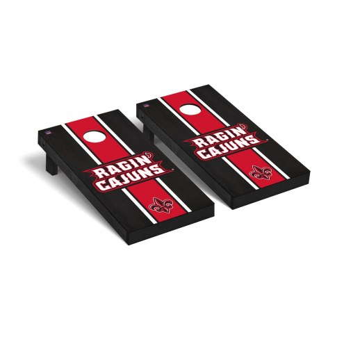 Louisiana Lafayette Ragin' Cajuns Onyx Stained Cornhole Game Set