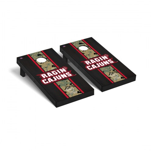 Louisiana Lafayette Ragin' Cajuns Operation Hat Trick Onyx Stained Cornhole Game Set
