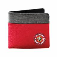 Louisiana Lafayette Ragin' Cajuns Pebble Bi-Fold Wallet