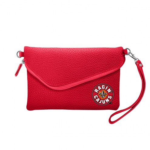 Louisiana Lafayette Ragin' Cajuns Pebble Fold Over Purse