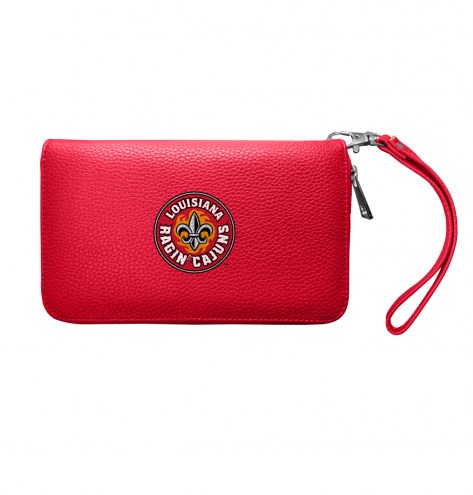 Louisiana Lafayette Ragin' Cajuns Pebble Organizer Wallet