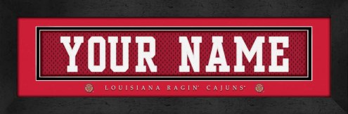 Louisiana Lafayette Ragin' Cajuns Personalized Stitched Jersey Print