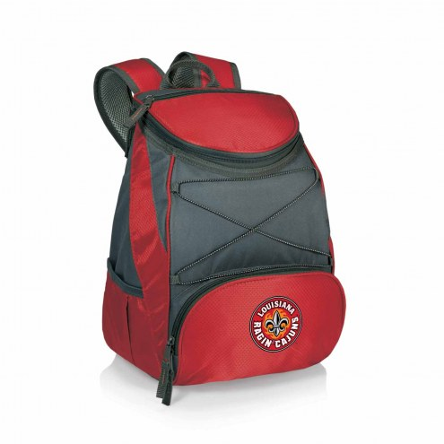 Louisiana Lafayette Ragin' Cajuns Red PTX Backpack Cooler