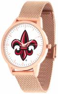 Louisiana Lafayette Ragin' Cajuns Rose Mesh Statement Watch