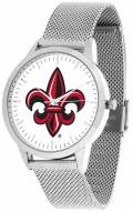 Louisiana Lafayette Ragin' Cajuns Silver Mesh Statement Watch