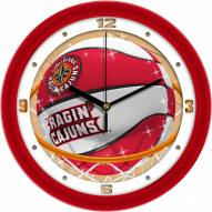 Louisiana Lafayette Ragin' Cajuns Slam Dunk Wall Clock