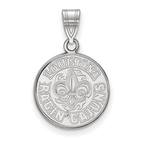 Louisiana Lafayette Ragin' Cajuns Sterling Silver Medium Pendant