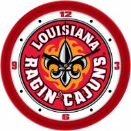 Louisiana Lafayette Ragin' Cajuns Traditional Wall Clock