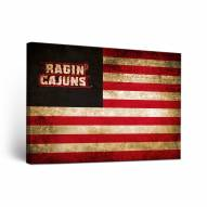 Louisiana Lafayette Ragin' Cajuns Vintage Canvas Wall Art