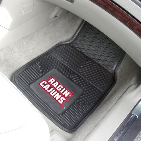 Louisiana Lafayette Ragin' Cajuns Vinyl 2-Piece Car Floor Mats