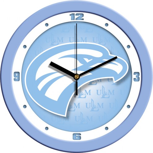 Louisiana-Monroe Warhawks Baby Blue Wall Clock