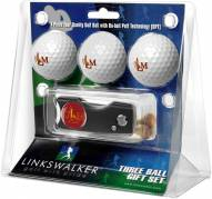 Louisiana-Monroe Warhawks Golf Ball Gift Pack with Spring Action Divot Tool
