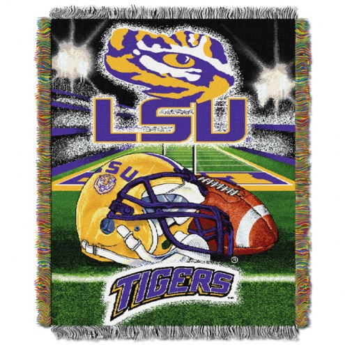 Louisiana State Tigers NCAA Woven Tapestry Throw / Blanket