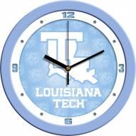 Louisiana Tech Bulldogs Baby Blue Wall Clock