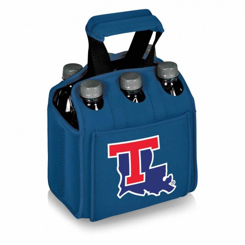 Louisiana Tech Bulldogs Blue Six Pack Cooler Tote