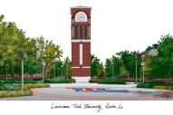 Louisiana Tech Bulldogs Campus Images Lithograph