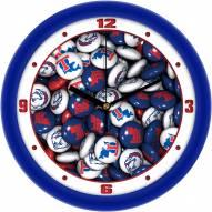 Louisiana Tech Bulldogs Candy Wall Clock