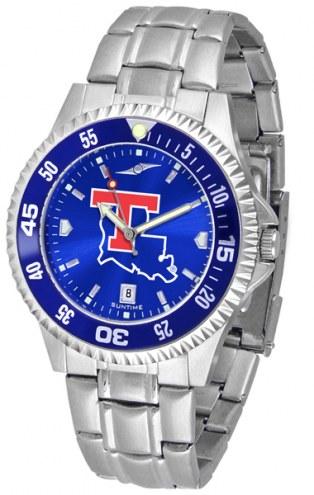 Louisiana Tech Bulldogs Competitor Steel AnoChrome Color Bezel Men's Watch