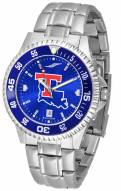 Louisiana Tech Bulldogs Competitor Steel AnoChrome Color Bezel Men's Watch