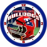 Louisiana Tech Bulldogs Football Helmet Wall Clock
