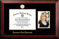 Louisiana Tech Bulldogs Gold Embossed Diploma Frame with Portrait