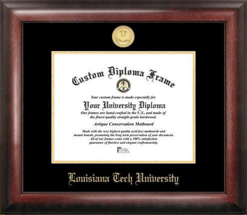 Louisiana Tech Bulldogs Gold Embossed Diploma Frame