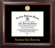Louisiana Tech Bulldogs Gold Embossed Diploma Frame