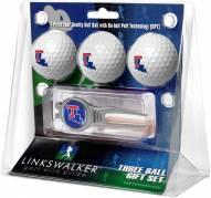 Louisiana Tech Bulldogs Golf Ball Gift Pack with Kool Tool