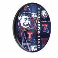 Louisiana Tech Bulldogs Digitally Printed Wood Clock