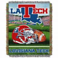 Louisiana Tech Bulldogs Home Field Advantage Throw Blanket