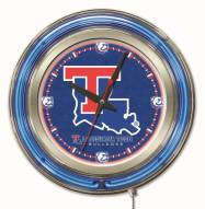 Louisiana Tech Bulldogs Neon Clock