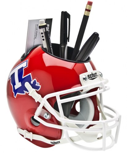 Louisiana Tech Bulldogs Schutt Football Helmet Desk Caddy