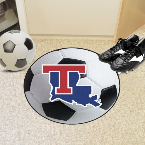 Louisiana Tech Bulldogs Soccer Ball Mat
