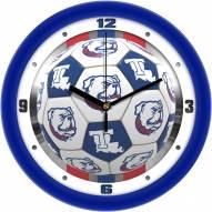 Louisiana Tech Bulldogs Soccer Wall Clock