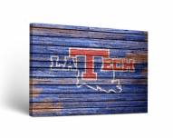 Louisiana Tech Bulldogs Weathered Canvas Wall Art