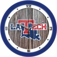 Louisiana Tech Bulldogs Weathered Wood Wall Clock